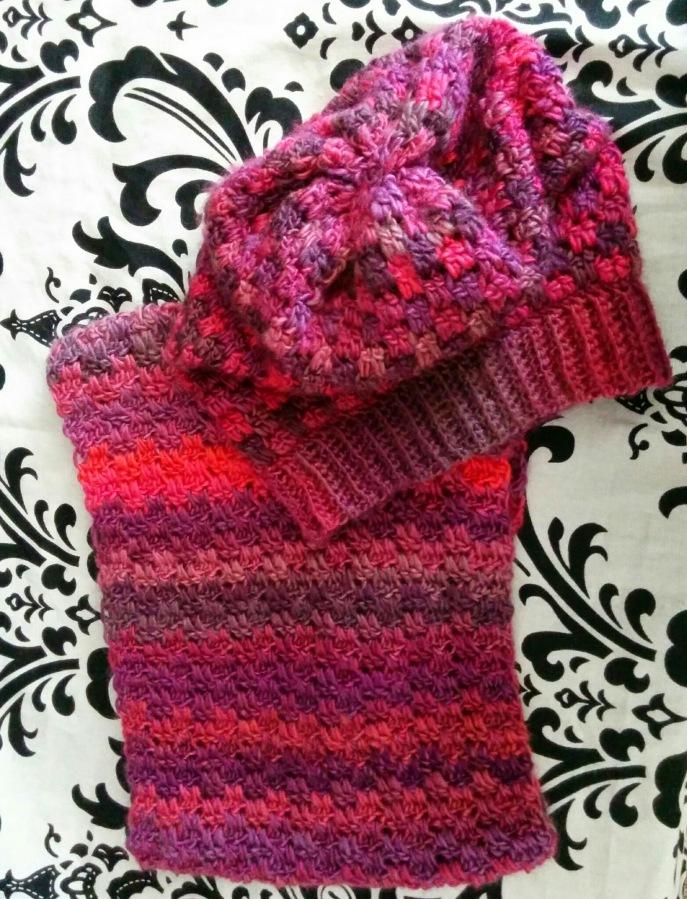 Red Heart Unforgettable in Winery Crochet Pattern